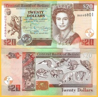 Belize 20 Dollars P-69f 2017 UNC Banknote - Belize