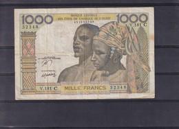 AOF  Burkina  Upper Volta  1000 Fr Nd   C  Rare - West-Afrikaanse Staten