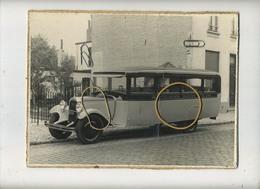 WAVRE  :  Ets. SLANGEN  TEL 264 :    Autobus :  Photo Sur Carton  ( 2  Items :  Formaat  24 X 18 Cm ) Old Car - Lieux