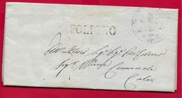 PREFILATELICA - PONTIFICIO - 1848 Lettera Con Testo SPELLO CALVI DELL'UMBRIA - Bollo Postale FOLIGNO SPELLO - Italia