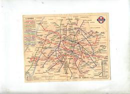 Plan Metro Paris - Titres De Transport