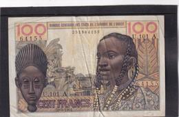 AOF Ivory Coast  100 Fr  20 -3 - 1961  VF - West-Afrikaanse Staten