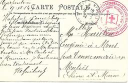 84-cachet Hôpital Aux N°42 à Carpentras Sur CP En 1914- Cachet Très Rare - Guerre De 1914-18