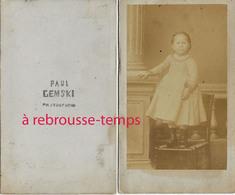A VOIR-RARE CDV De Paul Gemski (GRZYMSKI) 1er Photographe De Brienne (10) ép Louise PETIT-portrait D'enfant-Pologne-LIRE - Old (before 1900)