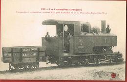 Chemins De Fer- Les Locomotives Etrangères- -Fleury 233-Loco à Crémaillère Pour Le Chemin De Fer De Diacophso-Kalavryta - Matériel