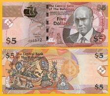 Bahamas 5 Dollars P-72Aa 2013 UNC Banknote - Bahamas