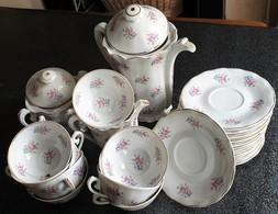 Service à Café ( Ou Thé ! ) Porcelaine De Limoges Estampillé « ULIM » - Tazze