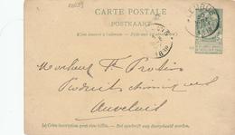 039/28 - Entier Postal Armoiries FLEURUS 1898 - Cachet Au Verso Xavier Demine , Négociant à SAINT AMAND Lez Fleurus - Cartes Postales [1871-09]