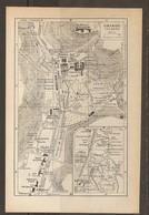 CARTE PLAN 1937 URIAGE - NOMBREUX HOTELS Et VILLAS TERRAIN De SPORTSLAWN TENNIS THÉATRE CASINO - Topographische Kaarten