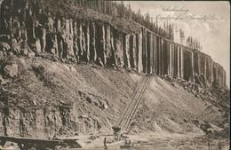 Ansichtskarte Scheibenberg (Erzgebirge) Steinbruch - Abbau 1919 - Scheibenberg