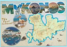 518 - MYKONOS - MAP - Cartes Postales