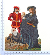 CHROMO DECOUPI GRAND FORMAT....SCENE DE HAMLET....théâtre De William Shakespeare - Découpis
