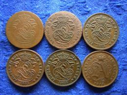 BELGIUM 2 CENTIMES 1863, 1870 KM4.1, 1902, 1905, 1908 KM35.1, 1912 KM64 Low Quality (6) - 1865-1909: Leopold II