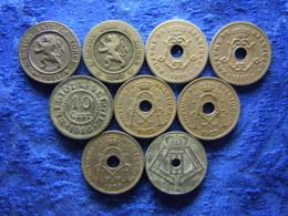 BELGIUM 10 CENTIMES 1861, 1862 KM22, 1904, 1905 KM54, 1916 KM81, 1923, 1927, 1929 KM85.1, 1943 KM125 (9) - 1909-1934: Albert I