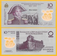 Haiti 10 Gourdes P-279 2013(2017) Polymer UNC Banknote - Haiti