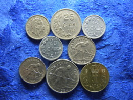 LUXEMBOURG 10 CENTIMES 1901  25 CENTIMES 1927, 1954, 1970, 1 FRANC 1946, 1952, 2 FR. 1924, 5 FR. 1986 (8) - Luxemburg