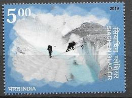 INDIA, 2019, MNH, GLACIERS, MOUNTAINS, SIACHEN GLACIER, HIMALAYAS,1v - Other