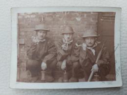 QUAREGNON 3 MINEURS EN 1920     PHOTO 9CM/6CM - Quaregnon