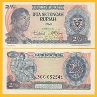 Indonesia 2 1/2 Rupiah P-103 1968 UNC Banknote - Indonesia