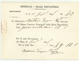 Autografo Di Antonio Targioni Tozzetti 1845 Chimico E Botanico Fiorentino - Autographes