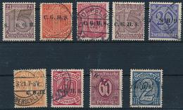 OBERSCHLESIEN - 1920 , Dienstmarken Mit Aufdruck C.G.H.S.  -  Kleines Lot - Duitsland