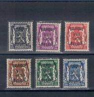 1938 VIII - Surcharge Type A - Petit Sceau De L'état - PRE375 à PRE380. - Typo Precancels 1936-51 (Small Seal Of The State)