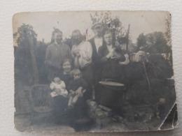 FLOBECQ ANCIENNE PHOTO D'UNE FAMILLE DEROBERT ANGEL 11CM/8CM - Vloesberg