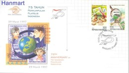 Indonesia 1997 Mi 1689-1690 FDC ( FDC ZS8 INS1689-1690 ) - Stamps On Stamps