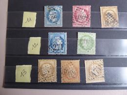 FRANCE Oblitération Gros Chiffres    Indice 11, 12  Et 13 - Storia Postale (Francobolli Sciolti)