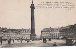 CPA PARIS - PLACE ET COLONNE VENDOME - Squares