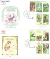 Indonesia 1998 Mi 1839-1848 FDC ( FDC ZS8 INS1839-1848 ) - Plants