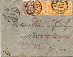 """EGYPTE : DE """" AHRAM """" . POUR LA SUISSE . 1910 . - 1915-1921 Protectorat Britannique"""