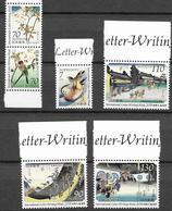 JAPAN, 2019, MNH, LETTER WRITING WEEK, BIRDS, FLOWERS, MOUNTAINS, VILLAGE SCENES, 6v - Birds
