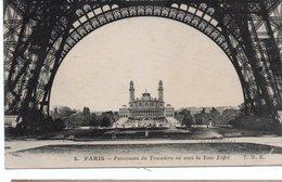 CPA PARIS - PANORAMA DU TROCADERO VU SOUS LA TOUR EIFFEL - Tour Eiffel