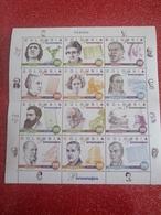 Blocs Feuillets Personnages Célèbres. 4568 Et 5567.timbres De 956 à 979. - Colombia