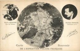 CARTE SOUVENIR DE L'EXPEDITION POLAIRE FRANCAISE  E. SEQUIER ET G. DARCIS - Missie
