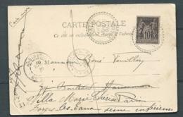 GREUX FACTEUR BOITIER T84 SUR SAGE  Yvert N° 89 Juillet 1901 ( Cpa = Basilique De DONREMY )  Maca0671 - 1877-1920: Periodo Semi Moderno