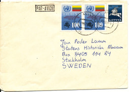 Lithuania Cover 5-8-1992 Sent To Denmark - Lithuania
