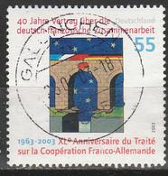 PIA - GERMANIA :  2003 : 40° Anniversario Del Trattato Sulla Cooperazione Franco-tedesca   - (Yv 2139) - Usati