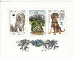 2007 Slovakia Dogs Miniature Sheet Of 2 MNH - Slovakia
