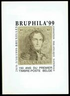 """Catalogue De L'EXPOSITION PHILATELIQUE """"BRUPHILA'99"""" - 150 Ans Du 1 Ier Timbre-poste Belge - Textes En FR/NL/D. - Andere Boeken"""