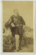 CDV 1860-70 Auguste Meylan à Turin . Le Roi D'Italie Victor-Emmanuel II , D'après Tableau . - Antiche (ante 1900)