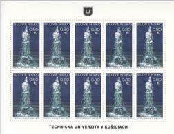 2016 Slovakia Herl'any Geyser Miniature Sheet Of 10 MNH  @ BELOW FACE VALUE - Blocchi & Foglietti