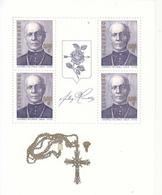 2014 Slovakia Father Andrej Hlinka Miniature Sheet Of 4 MNH  @ BELOW FACE VALUE - Blocks & Kleinbögen