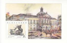 2014 Slovakia Art Paintings Deer Sculpture Horses  Miniature Sheet Of 1 MNH  @ BELOW FACE VALUE - Slovakia