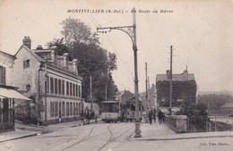 .CPA  76 MONTIVILLIERS Route Du HAVRE Croisement Des Tramway - Montivilliers