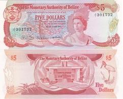 Belize - 5 Dollars 1980 P. 39a AUNC Lemberg-Zp - Belize