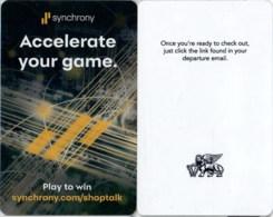 The Venetian - The Palazzo – Synchrony--735-- -- --key Card, Room Key, Schlusselkarte, Hotelkarte - Hotelkarten