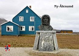 Svalbard Islands Ny-Alesund Amundsen Monument New Postcard Spitzbergen AK - Norway