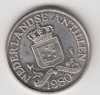 @Y@    Nederlandse Antillen   25  Cent  1980 ( 4691 ) - Netherland Antilles
